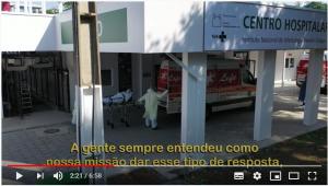Fachada do Centro hospitalar Covid-19