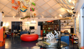 Interior de exposição do Museu da Vida com suas instalações
